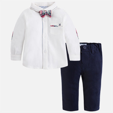 Baby Boy Pant, Shirt & Bow Tie Set