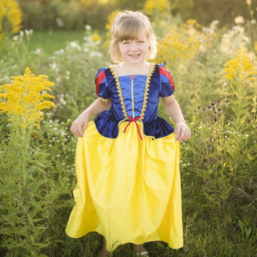 Deluxe Snow White Dress Costume by Creative Education