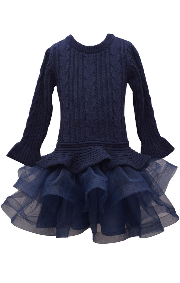 Navy Sweater Tutu Dress
