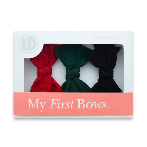 3 Pack Box Knot Set by Baby Bling