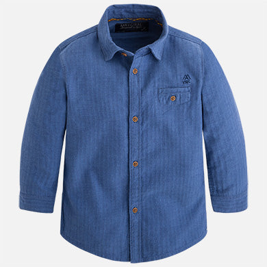 Long Sleeve Button Up Fishbone Shirt