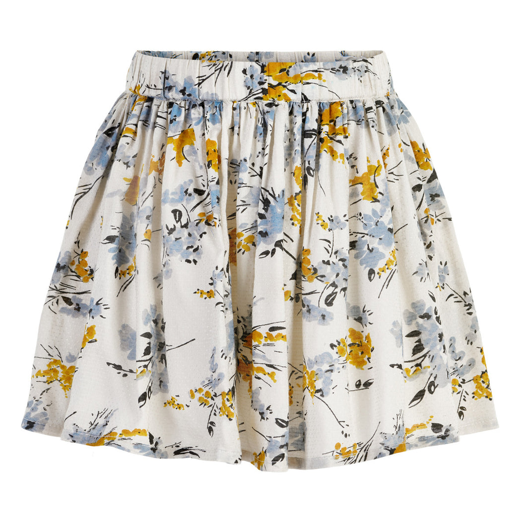Flower Dobby Skirt by Creamie