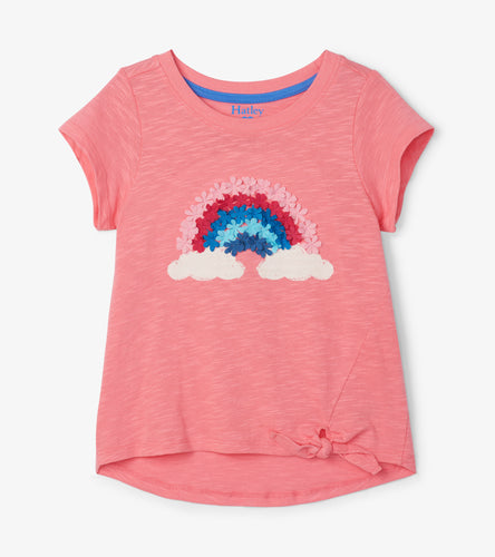 Hatley Magical Rainbow Tie Front Top
