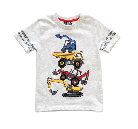 Construction Short Sleeve Tee Shirt & Short Set
