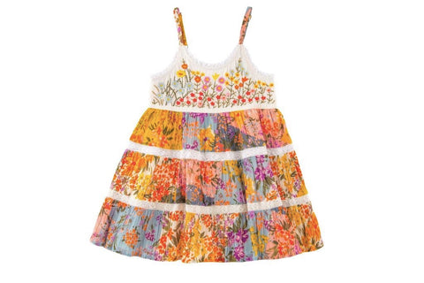 Paintbox Flowers Dress