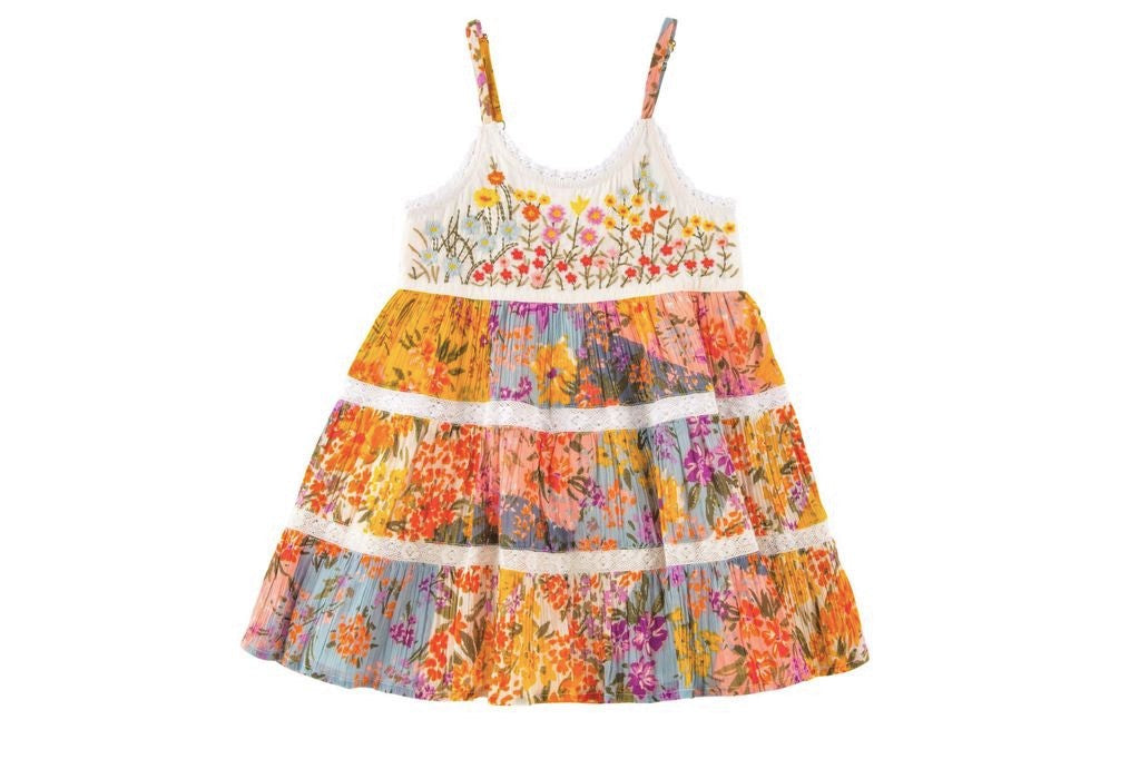 Mimi & Maggie Paintbox Flowers Dress