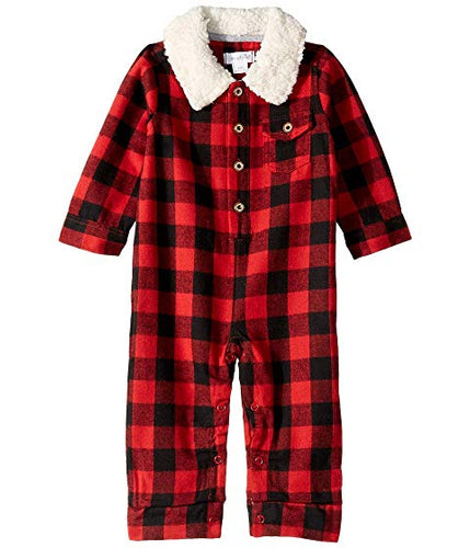 Mud Pie Buffalo Check Romper