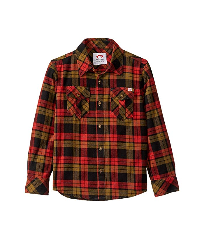 Flannel Shirt In Paprika Plaid
