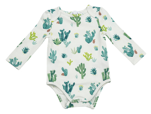 Cactus Lap Shoulder Bodysuit by Angel Dear