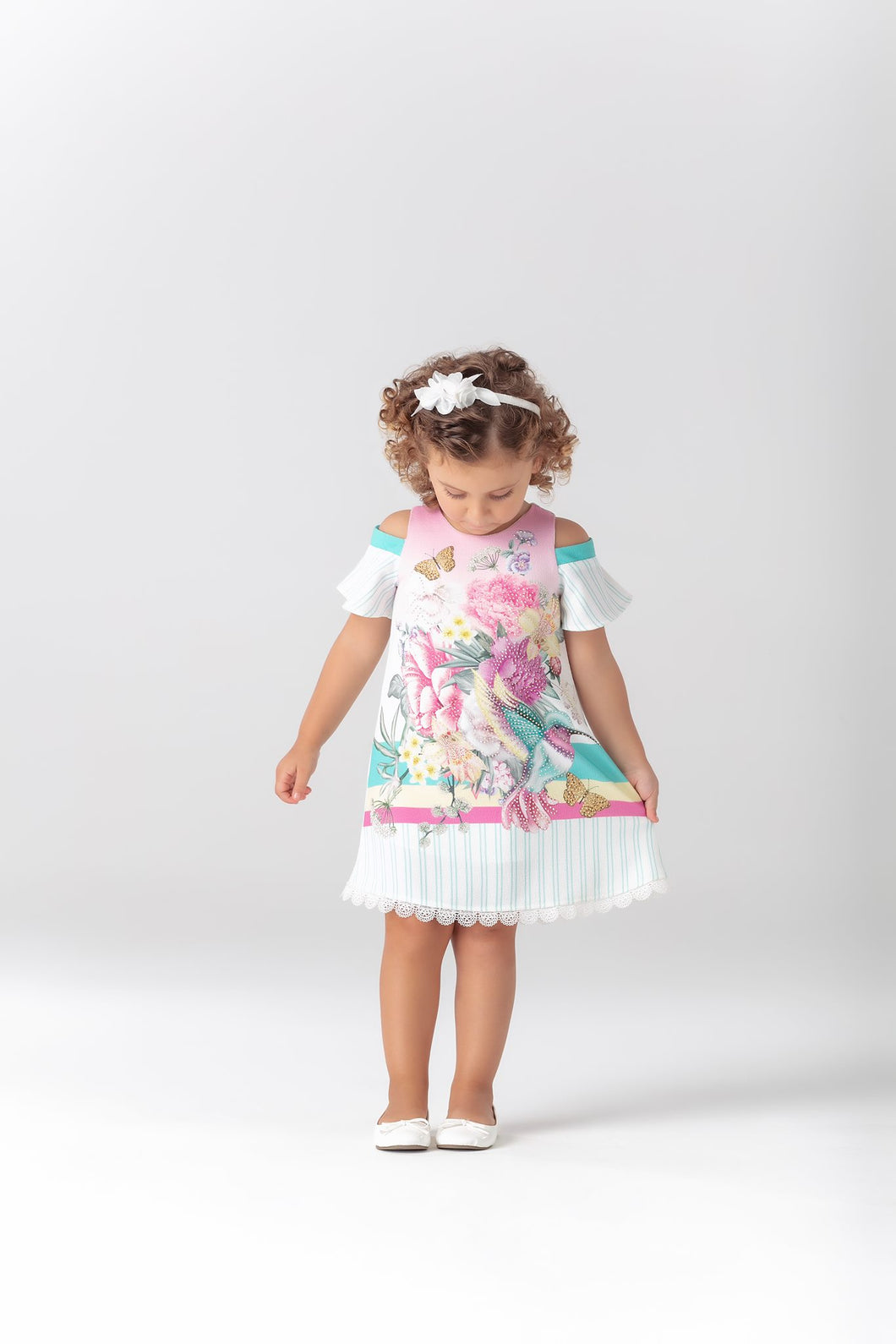 Petite Cherie Hummingbirds with Rhinestone Dress