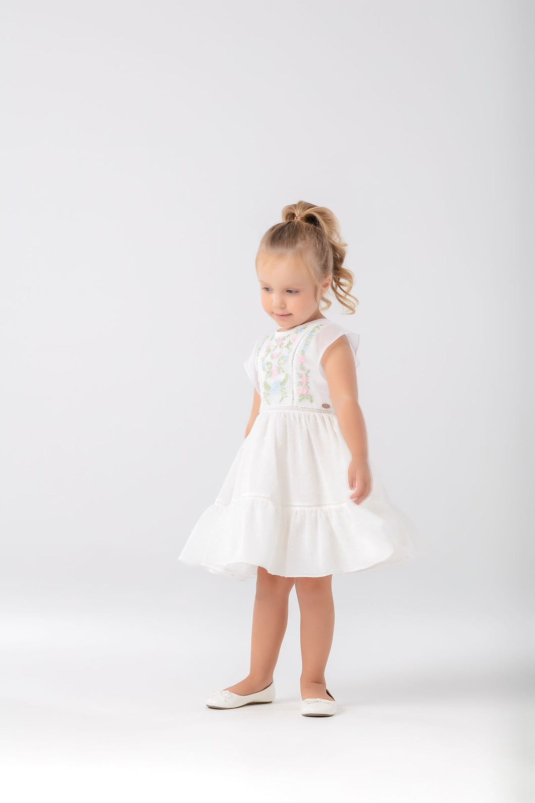 Petite Cherie Spring Embroidered Dress