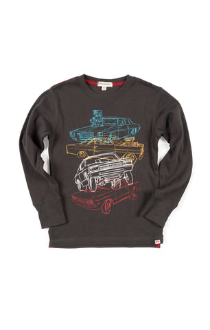 Car Stack Long Sleeve Graphic Tee