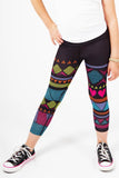 Geometric Printed Capri Active Wear Legging