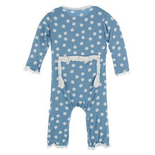 Blue Moon Snowball Muffin Ruffled Coverall by Kickee Pants