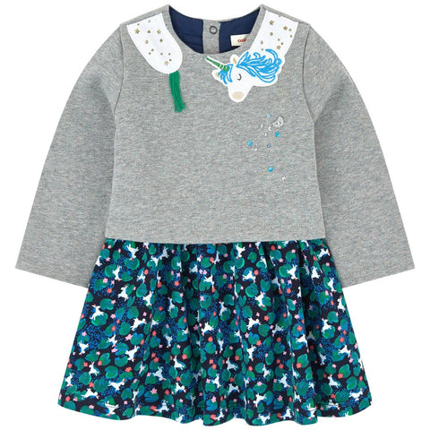 Infant/Toddler Unicorn Dress & Tights