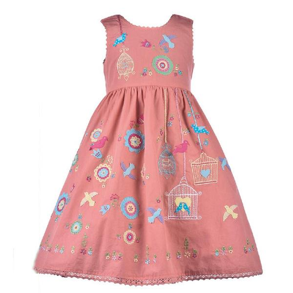 Folk Embroidered Dress by Cotton Kids