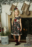 Delphine Party Dress in Winter Flora by Mustard Pie