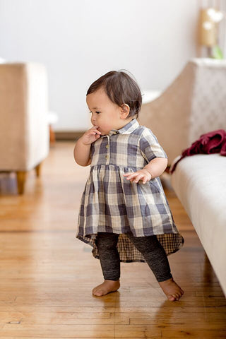 Dove Tail Plaid Shirt Dress