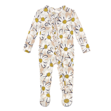 Maxine Ruffled Zippered Footie by Posh Peanut