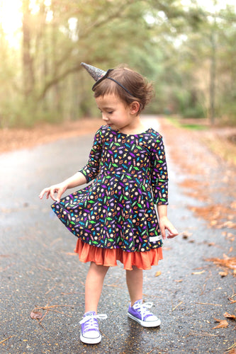 Halloween Harvest Reversible Dress by Evie's Closet - PREORDER
