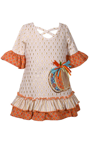 Foil A-Line Pumpkin Dress
