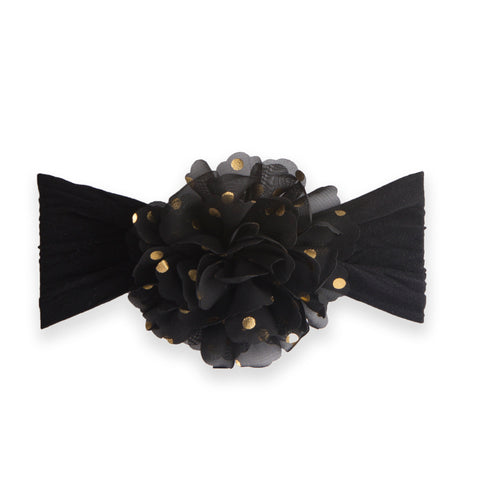 Gold Dot Flower Headband by Baby Bling
