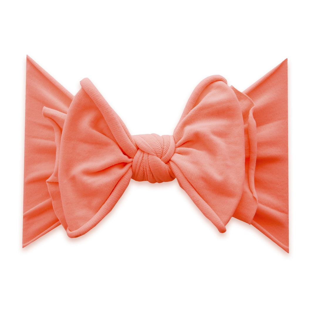 Neon Coral Fab-Bow-Lous Bow (Fab) By Baby Bling
