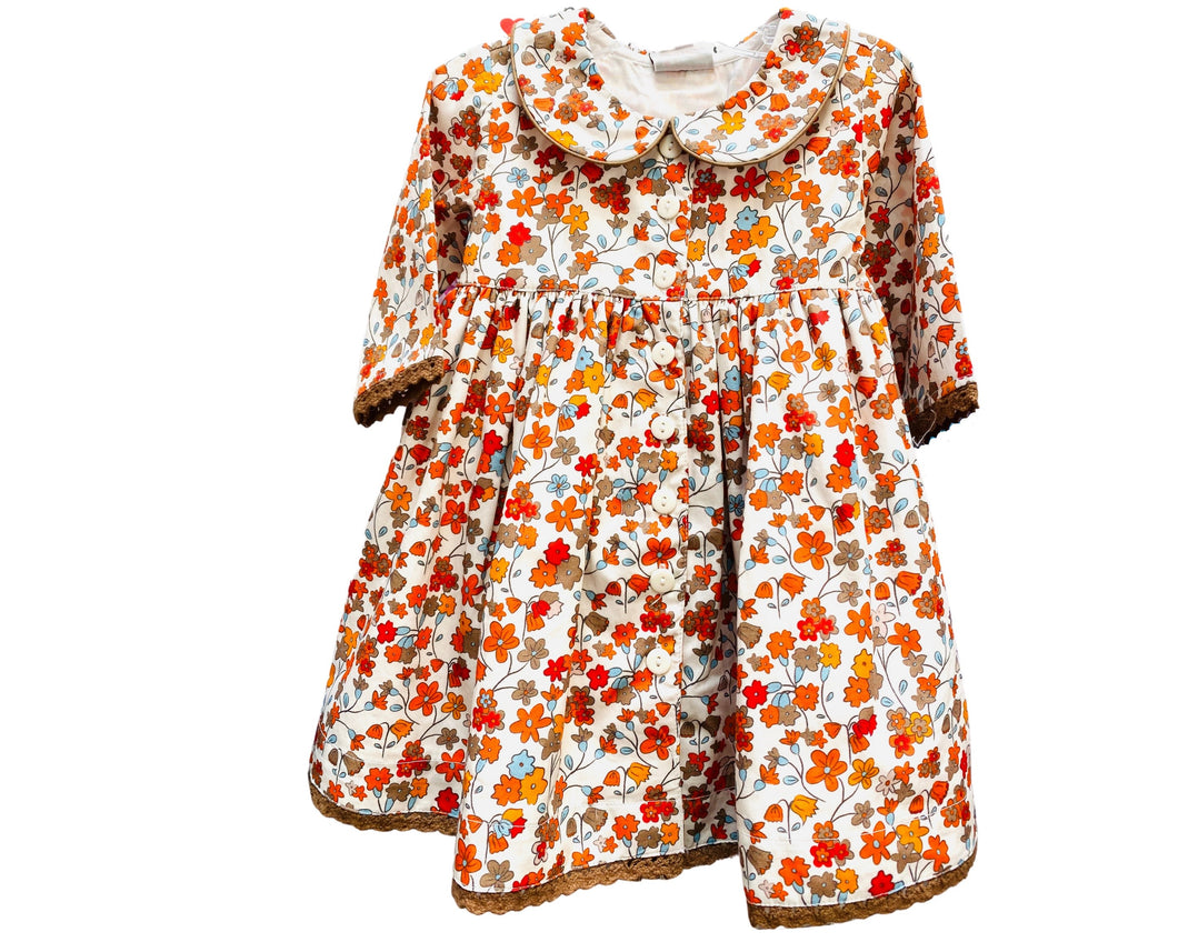 Ditsy Floral Empire Dress by Cotton Kids