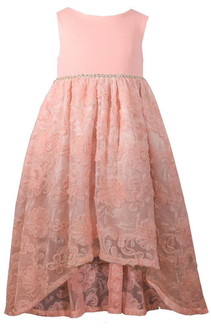 Hi-Low Dusty Rose Occasion Dress
