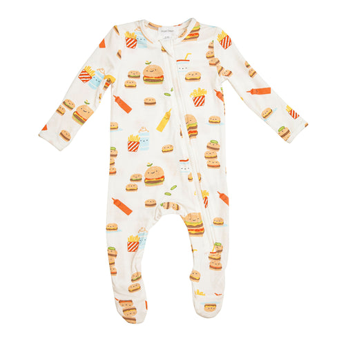 Burger Joint Zipper Footie by Angel Dear