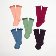 Lace Top Knee High Socks by The Little Stocking Company- Winter '20