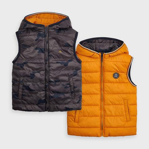 Reversible Vest In Cheddar