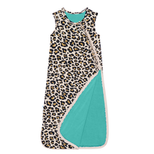 Lana Leopard Sleeveless Tan Sleep Bag by Posh Peanut