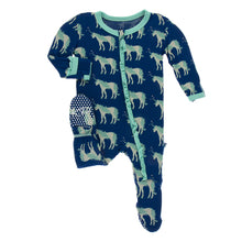 Zoology  Muffin Ruffle Zippered Footie by Kickee Pants