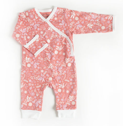 Pink Bunny Organic Cotton Baby Romper