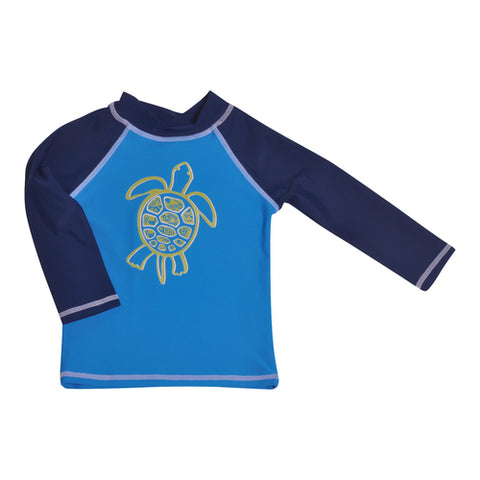 UPF 50+ Rash Guard Tropical Turtle