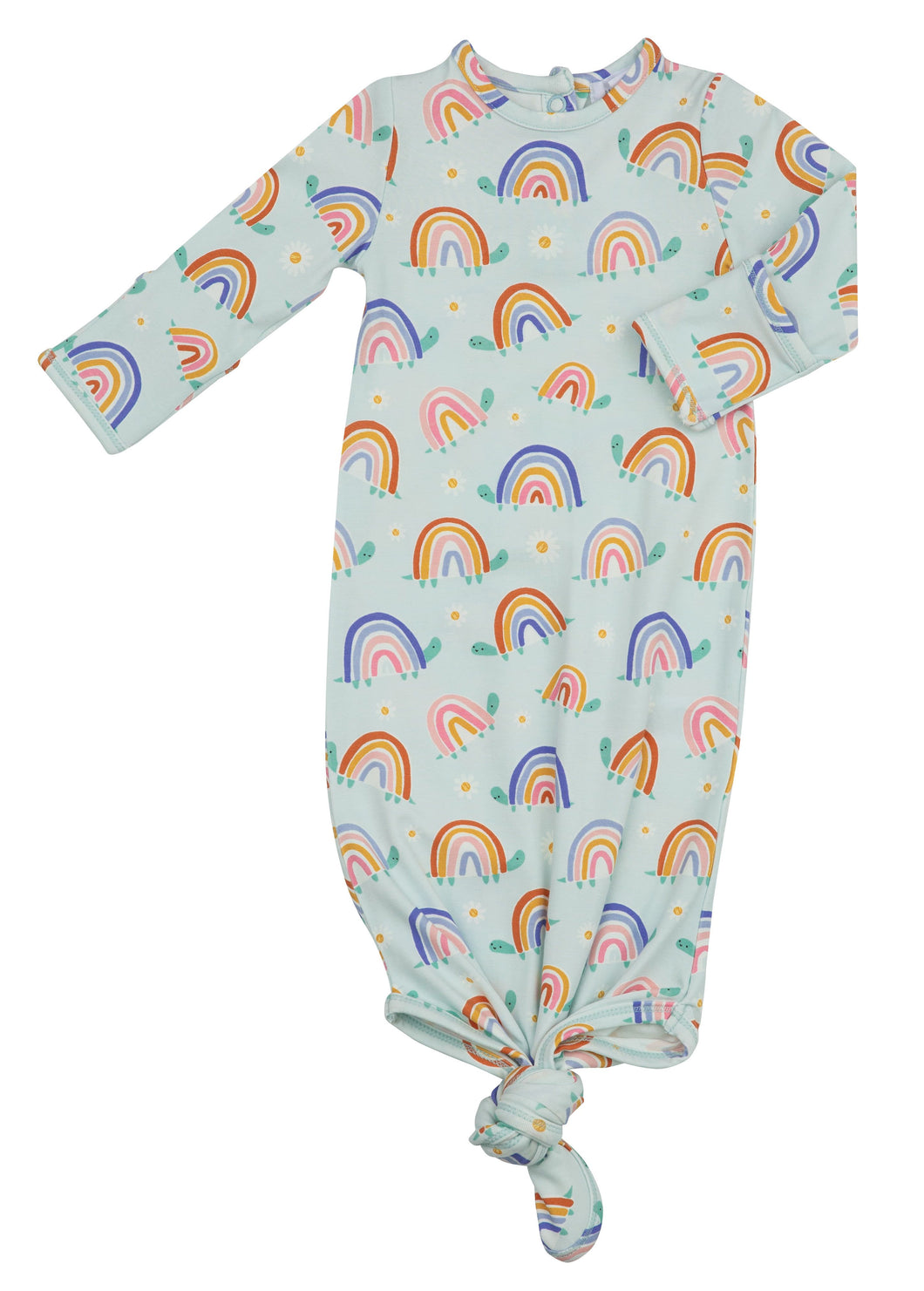 Rainbow Turtles Knotted Gown by Angel Dear