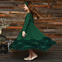 Serendipity Winterberry Hunter Green Maxi Dress