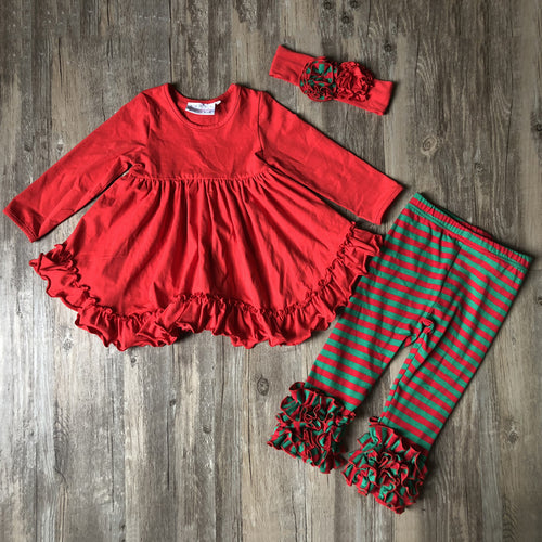 Red Swing Top With Leggings