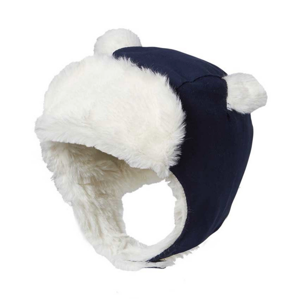 Baby Boys Theo Trapper Hat in Navy
