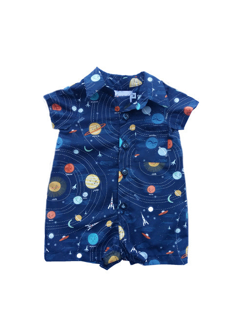 Baby Boys Space Shirtall by FiveLoavesTwoFish