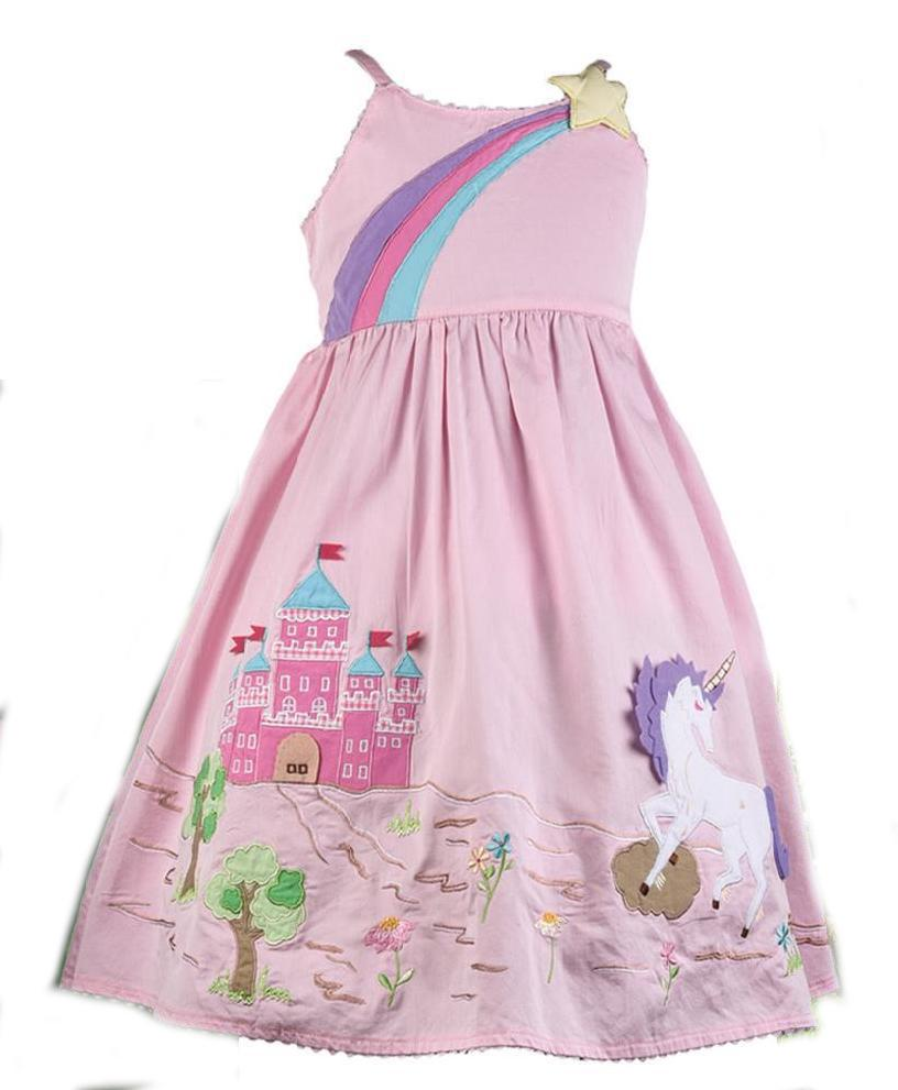 Unicorn Applique Dress By Cotton Kids