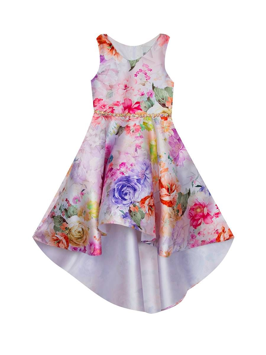 Floral Printed Hi-Low Dress
