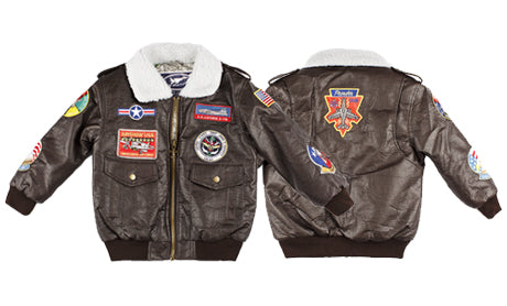 Boy's A-2 Bomber Jacket Brown