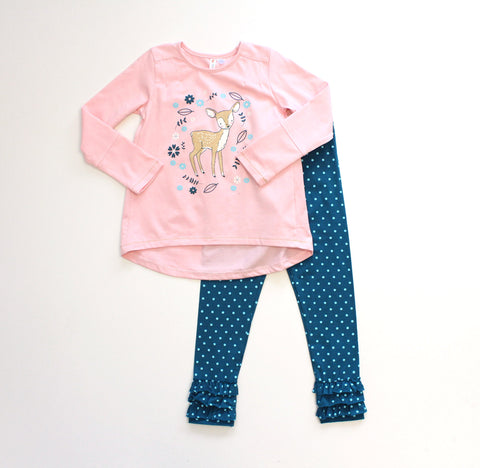 Girl's Fawn Tunic Set