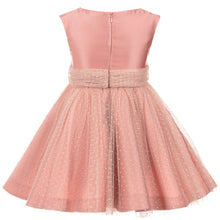 Dusty Rose Satin & Tulle Plumeti Dress by Abel and Lula
