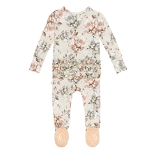 Daniella Ruffled Zippered Footie by Posh Peanut