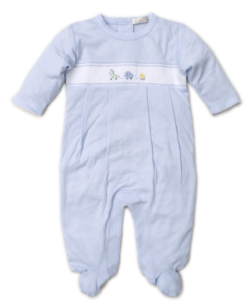 Embroidered Premier Pull Toy Footie by Kissy Kissy