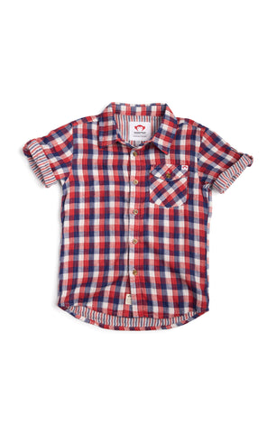 Benson Shirt In Patriot Check