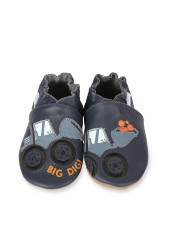 Navy Big Dig Soft Sole Baby Shoes